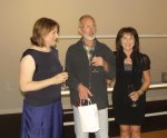 Helen Masin, William Young, Pauline Bailey - Land Sea Structure Opening night, Gippsland Art Gallery, Sale 1st. Feb 2013