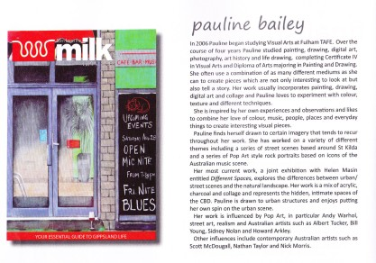 Milk Magazine cover competition - Finalist - November 2010