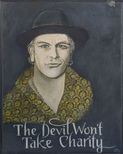 The Devil Won't Take Charity_Print and mixed media on canvas_20.3 x 25.4 cm